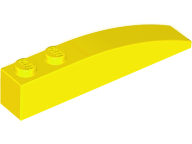 LEGO Slope, Curved 6 x 1 [Yellow] [42022]