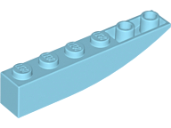 LEGO Slope, Curved 6 x 1 Inverted [Medium Azure] [42023]