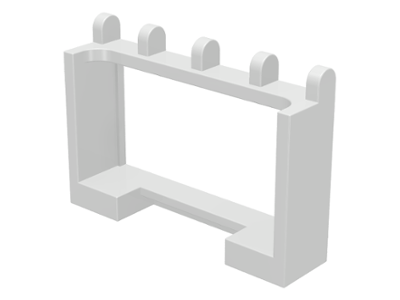 LEGO Hinge Vehicle Roof Holder 1 x 4 x 2 [White] [4214]