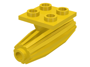LEGO Engine, Strakes, 2 x 2 Thin Top Plate [Yellow] [4229]
