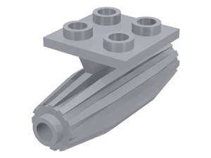 LEGO Engine, Strakes, 2 x 2 Thin Top Plate [Light Bluish Gray] [4229]