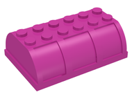 LEGO Container, Trunk Lid 4 x 6 x 1 2/3 [Dark Pink] [4238]