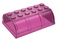 LEGO Container, Trunk Lid 4 x 6 x 1 2/3 [Trans-Dark Pink] [4238]