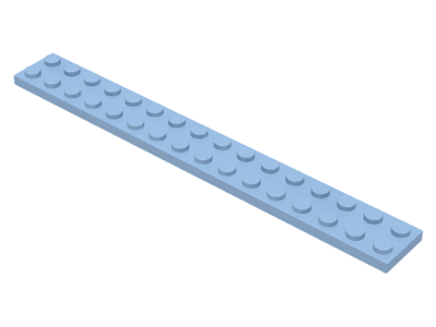 LEGO Plate 2 x 16 [Bright Light Blue] [4282]