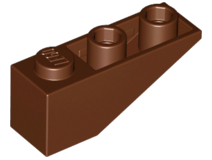 LEGO Slope, Inverted 33 3 x 1 [Reddish Brown] [4287]