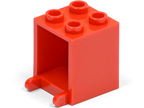 LEGO Container, Box 2 x 2 x 2 [Red] [4345]