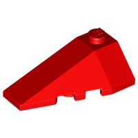 LEGO Wedge 4 x 2 Triple Left [Red] [43710]