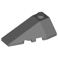 LEGO Wedge 4 x 2 Triple Left [Dark Bluish Gray] [43710]