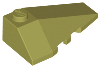 LEGO Wedge 4 x 2 Triple Right [Olive Green] [43711]