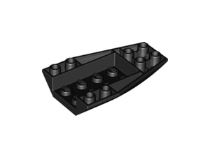 LEGO Wedge 6 x 4 Triple Inverted Curved [Black] [43713]