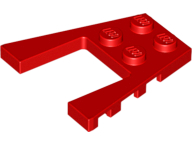 LEGO Wedge, Plate 4 x 4 [Red] [43719]