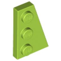 LEGO Wedge, Plate 3 x 2 Right [Lime] [43722]