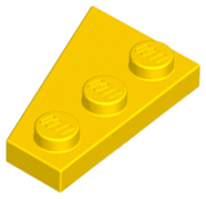 LEGO Wedge, Plate 3 x 2 Right [Yellow] [43722]