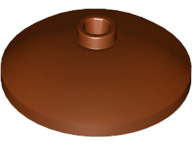 LEGO Dish 3 x 3 Inverted (Radar) [Reddish Brown] [43898]