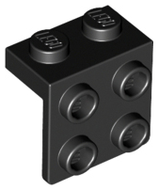 LEGO Bracket 1 x 2 - 2 x 2 [Black] [44728]