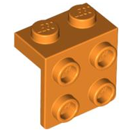LEGO Bracket 1 x 2 - 2 x 2 [Orange] [44728]