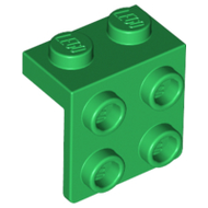 LEGO Bracket 1 x 2 - 2 x 2 [Green] [44728]