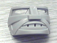 LEGO Sports Hockey Mask 5 with Cheek Cuts and Teeth [Light Gray] [45535a]