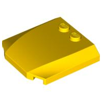 LEGO Wedge 4 x 4 x 2/3 Triple Curved [Yellow] [45677]