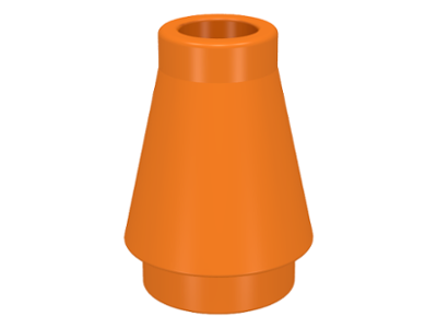 LEGO Cone 1 x 1 without Top Groove [Orange] [4589]