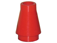 LEGO Cone 1 x 1 without Top Groove [Red] [4589]