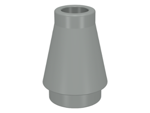 LEGO Cone 1 x 1 without Top Groove [Light Gray] [4589]