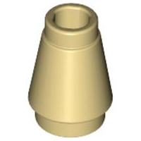 LEGO Cone 1 x 1 with Top Groove [Tan] [4589b]