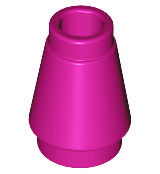 LEGO Cone 1 x 1 with Top Groove [Magenta] [4589b]