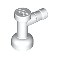 LEGO Tap 1 x 1 without Hole in Nozzle End [White] [4599b]
