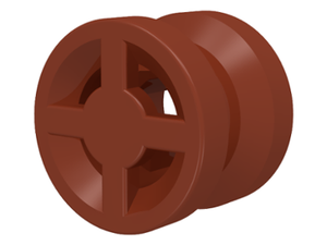 LEGO Wheel 8mm D. x 6mm [Reddish Brown] [4624]