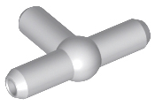 LEGO Pneumatic T Piece Second Version (T Bar with Ball in Center) [Light Bluish Gray] [4697b]