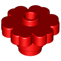 LEGO Plant Flower 2 x 2 Rounded - Open Stud [Red] [4728]