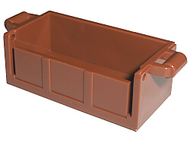 LEGO Container, Treasure Chest Bottom - Slots in Back [Reddish Brown] [4738a]