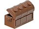 LEGO Container, Treasure Chest - Thick Hinge, Slots in Back [Brown] [4738ac01]