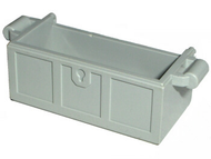 LEGO Container, Treasure Chest Bottom - No Slots in Back [Light Gray] [4738b]