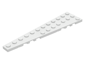 LEGO Wedge, Plate 12 x 3 Left [White] [47397]