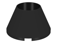 LEGO Cone 4 x 4 x 2 Hollow No Studs [Black] [4742]