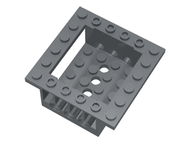 LEGO Cockpit 6 x 6 x 2 Cabin Base with Technic Holes [Dark Bluish Gray] [47507]