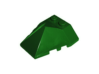 LEGO Wedge 4 x 4 Pyramid Center [Dark Green] [47757]