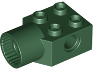 LEGO Technic, Brick Modified 2 x 2 with Pin Hole, Rotation Joint Socket [Dark Green] [48169]