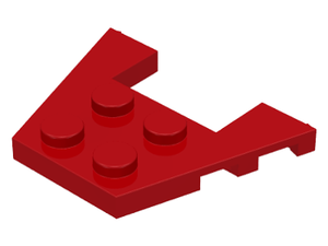 LEGO Wedge, Plate 3 x 4 with Stud Notches [Red] [48183]
