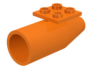 LEGO Engine, Smooth Large, 2 x 2 Thin Top Plate [Orange] [4868b]