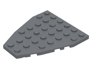 LEGO Wedge, Plate 7 x 6 with Stud Notches (Boat Bow Plate) [Dark Bluish Gray] [50303]