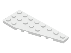 LEGO Wedge, Plate 8 x 3 Right [White] [50304]