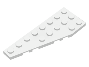 LEGO Wedge, Plate 8 x 3 Left [White] [50305]