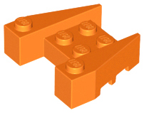 LEGO Wedge 3 x 4 with Stud Notches [Orange] [50373]