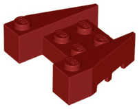 LEGO Wedge 3 x 4 with Stud Notches [Dark Red] [50373]