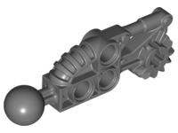 LEGO Bionicle Toa Hordika Arm Lower Section with Ball Joint [Dark Bluish Gray] [50921]