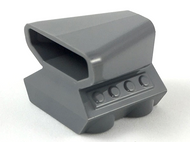 LEGO Vehicle, Air Scoop Top 2 x 2 [Dark Bluish Gray] [50943]