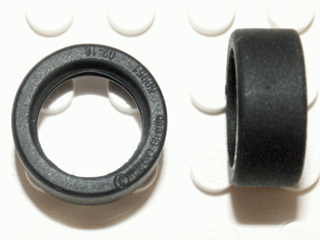 LEGO Tire 14mm D. x 6mm Solid Smooth [Black] [50945]